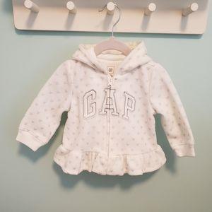 Baby Gap Sparkly Heart Logo Hoodie